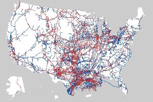 OIl pipeline map.