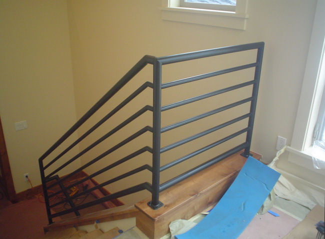 Field Fabricated Stair Railings For Residence