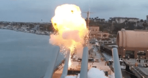 Firing The Guns Of The USS IOWA For The First Time In 25 Years