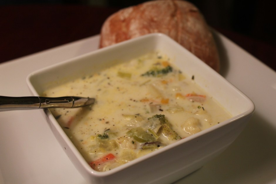 vegetable chowder | librarian style