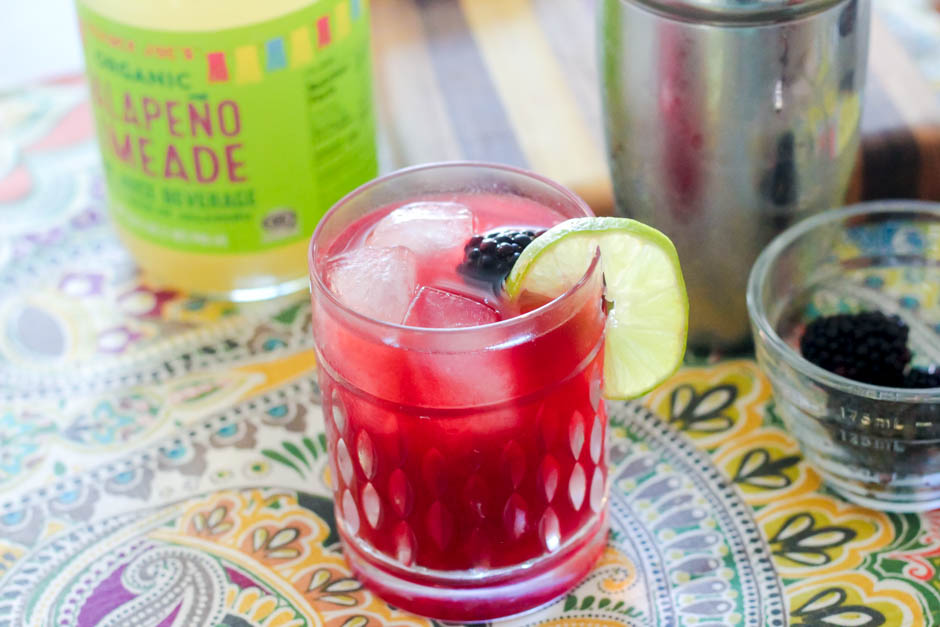 blackberry jalapeno lime margaritas