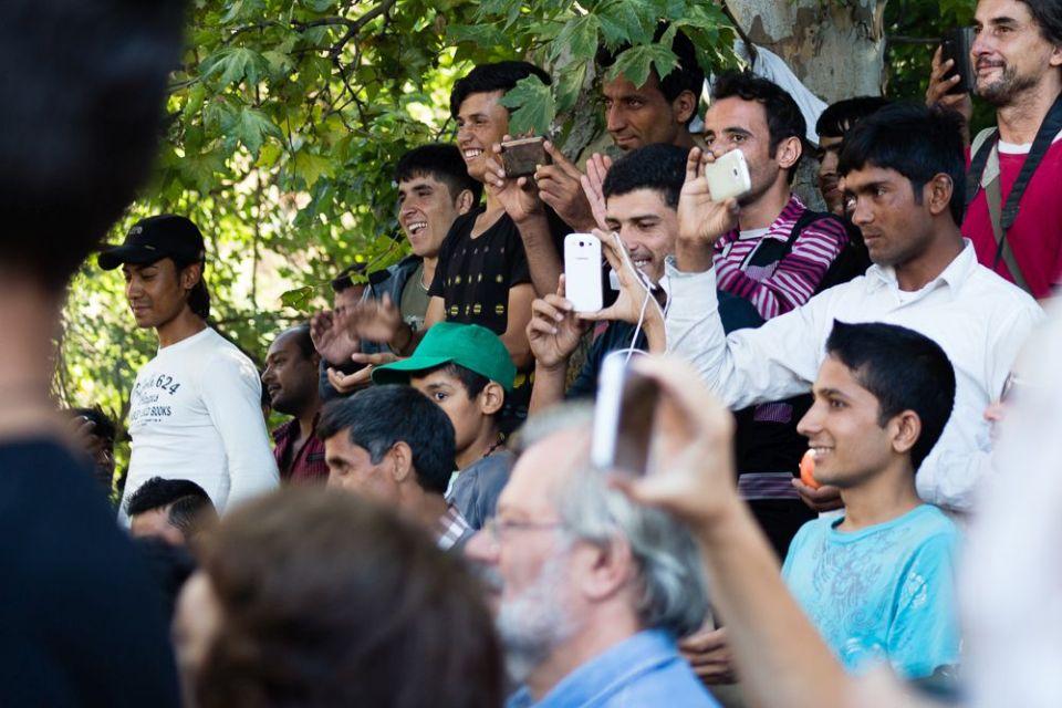 Palya Bea a tranzitzónában – fotó: Csata Judit