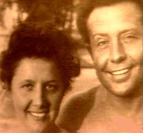 Feleségével, Csizmadia Marával