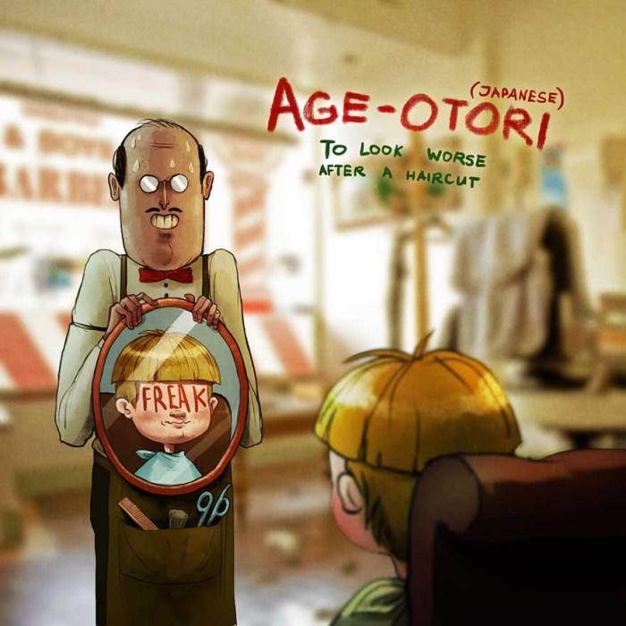 Age-otori (japán: rosszabbul kinézni a hajvágás után - a kép forrása: Boredpanda