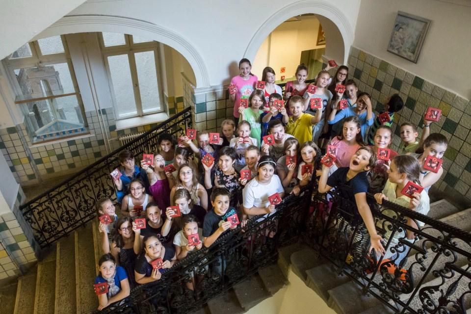 Az Erkel-iskola zenetagozatosai (Fotó: Pályi Zsófia)