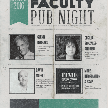 Faculty Pub Night Fall 2016