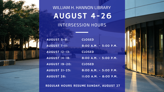 Library intersession hours