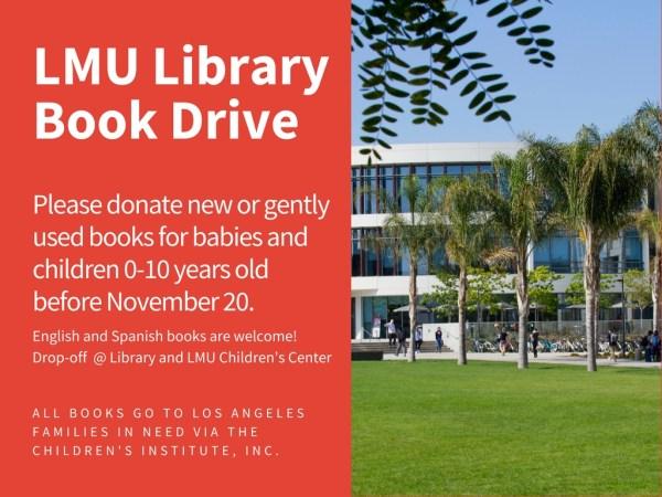 Book drive flyer