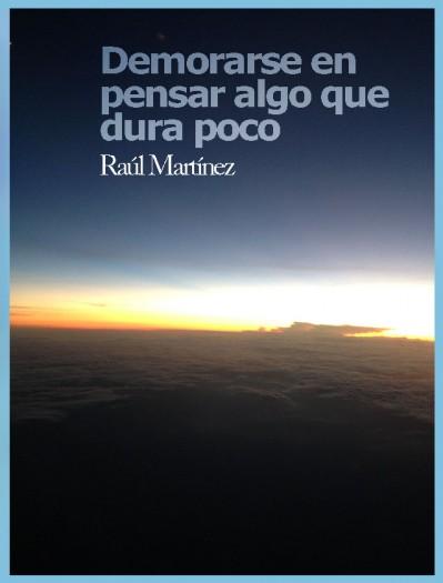 Demorarse en pensar algo que dura poco, libro de Raúl Martínez