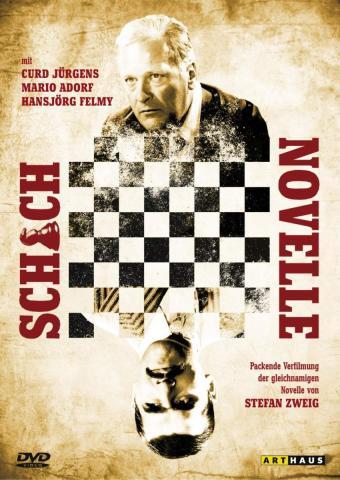 """Cartel promocional para la película Juego de Reyes de Gerd Oswald, una famosa película sobre el juego de ajedrez basada en la novela corta de Stefan Zweig """"Novela de Ajedrez"""""""