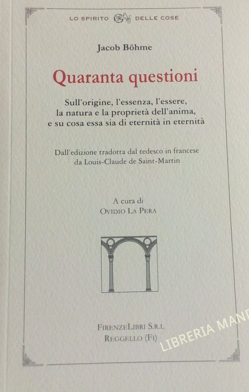 Quaranta questioni, Jacob Bohme