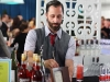 Scott Baird (15 Romolo) making a Pretty in Pink: Campari, Dry Vermouth, Fresh Grapefuit Juice, Seltzer & Sour Rhubarb Syrup