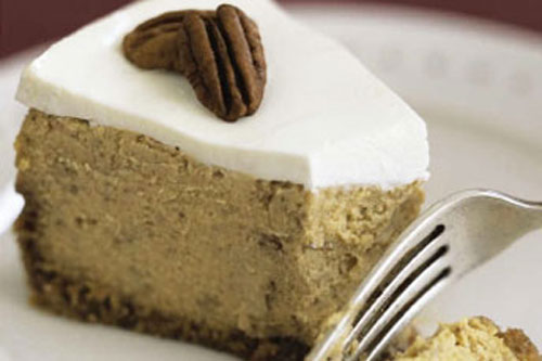 Bourbon Pumpkin Cheesecake, Photo Credit: Beatriz Da Costa, Gourmet