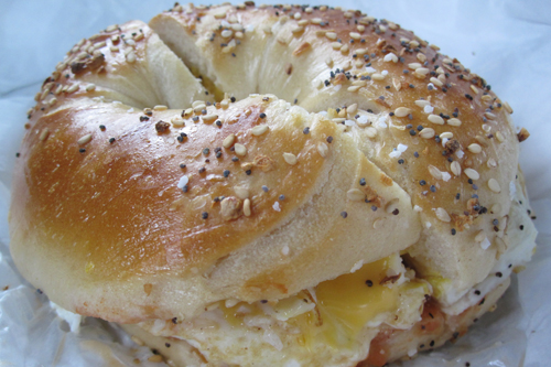 The perfect breakfast sandwich, Bagel Express