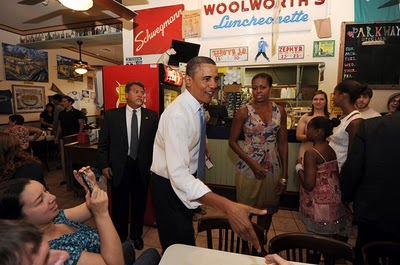 Obama at Parkway Bakery & Tavern