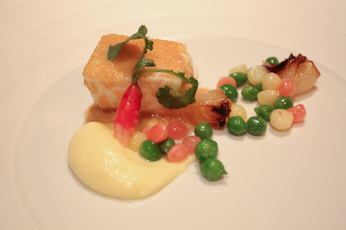 The French Laundry poached atlantic halibut