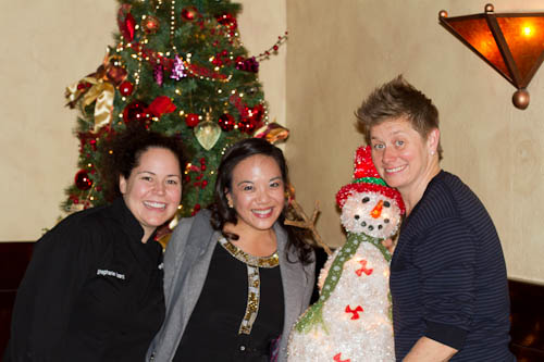 Stephanie Izard, me, Jen Biesty (and amputated Frosty)