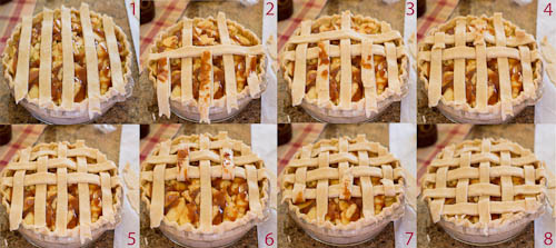Woven Lattice Pie Crust Step-By-Step
