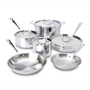 all-clad stainless steel 10 pc