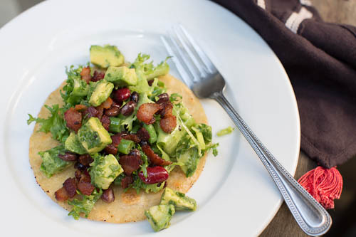 Bacon, Bean and Avocado Salad Tostadas