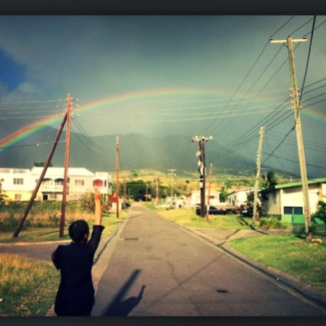 """Here is the rainbow I've been praying for..."" #❤ #JohnnyNash #Ohrwurm #rainbow #love"