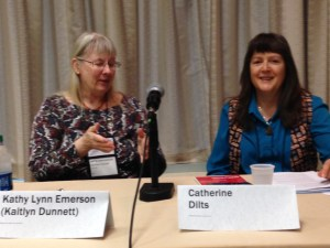 Moderator Catherine Dilts at Bouchercon