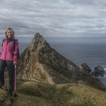 Inspirational ascent on crutches to the summit of The Sturrall by Nikki Bradley Cancer Survivor