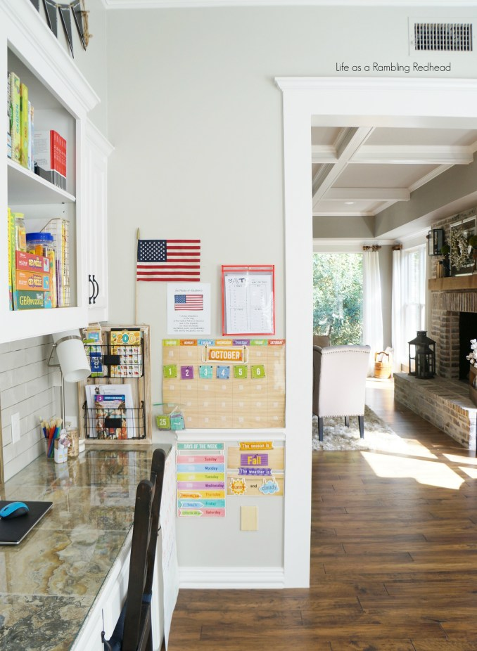 Dreamy natural lit kid's school room tour! So simple and charming! (Life as a Rambling Redhead)