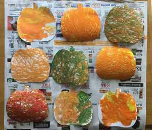 Fall Finger Painting Craft – Three Ways to Paint!