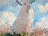 Paris Musee D'Orsay Claude Monet 1886 Woman with Parasol Umbrella Facing Left