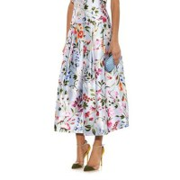 Ten tops and skirts with floral print