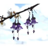 Accessories pick: Amethyst flower earrings from Lilys Woodland Flowers