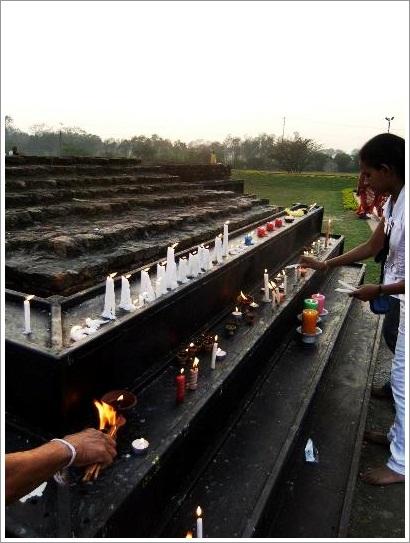 Lumbini Nepal Candles