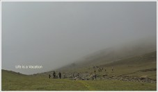 Kashmir-Harmukh- Walking in Mist