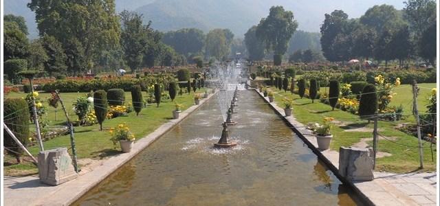 Springtime in Mughal Gardens, Kashmir, India