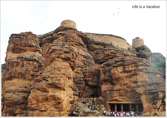 Badami Caves-Cave1-External