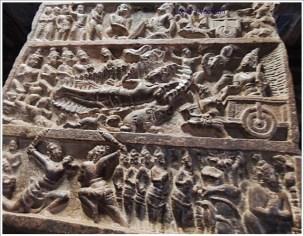 Pattadakal Pillar Carving Mahabharata Bhishma