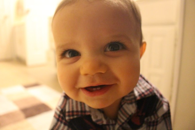 When my yougest smiles, his entire face lights up