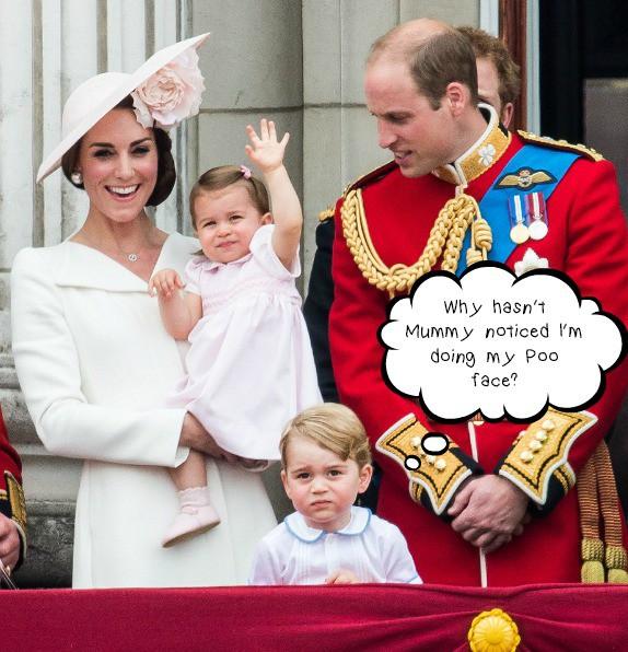 Royal poo face