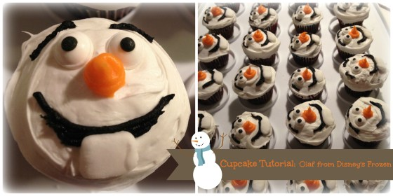Cupcake Tutorial: Olaf from Disney's Frozen