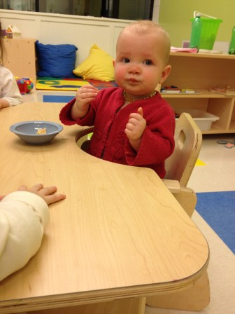 Snack time at daycare!