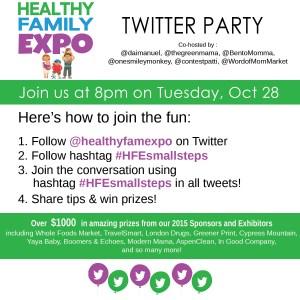 #HFESmallSteps Twitter Party