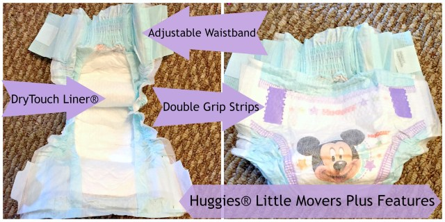 Huggies® Little Movers Plus Features