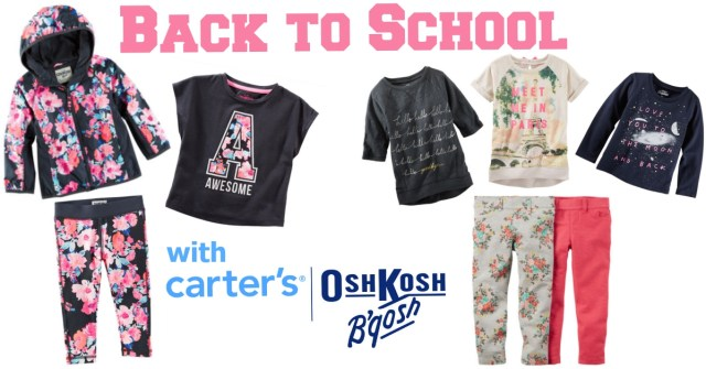 Carter's OshKosh Back to School Collage