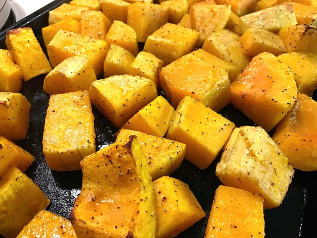 roasted butternut squash for gluten free pasta sauce