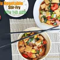 Tofu Vegetable Stir-Fry with Thai Basil