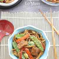 {Slow Cooker} Vegetable Lo Mein Noodles + Crock-Pot® Slow Cooker Giveaway!