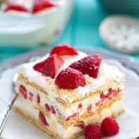 Strawberry Cheesecake Icebox Cake