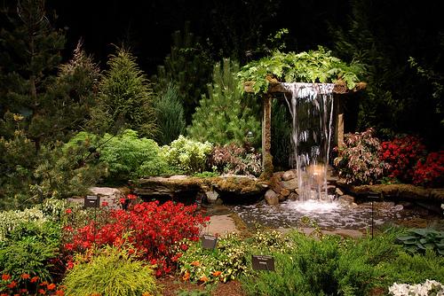 идеи ландшафтный дизайн выставка в бостоне искусственный ручей