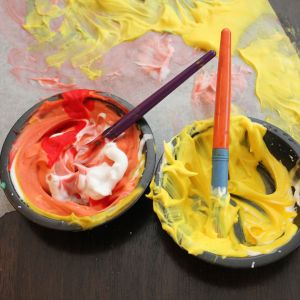 Painting with shaving cream - Life on Wallace